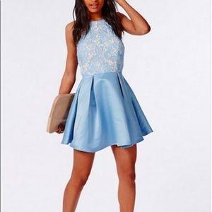 Missguided Powder Blue Dress